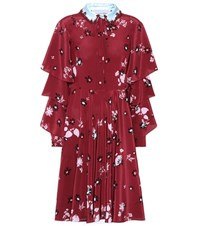 Valentino Printed Silk Dress Purple