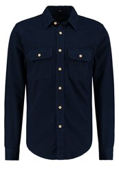 Abercrombie And Fitch Chamois Shirt Navy Dark Blue