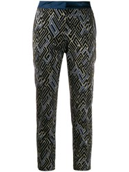 Semicouture Embroidered Cropped Trousers 60