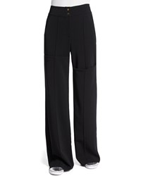 A.L.C. Debra High Waist Wide Leg Pants Black