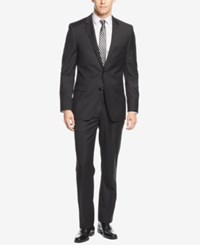 Dkny Black Solid Extra Slim Fit Suit