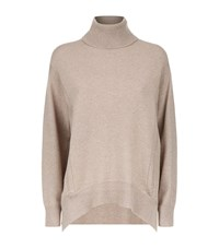 Reiss Daveen Cashmere Jumper Female Taupe