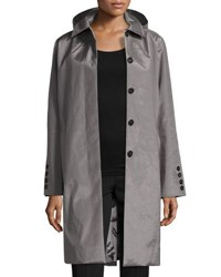 Jane Post Hooded Tech Fabric Jacket Gray