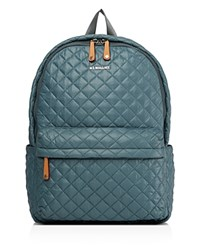 M Z Wallace Mz Metro Backpack Harbor Blue Silver