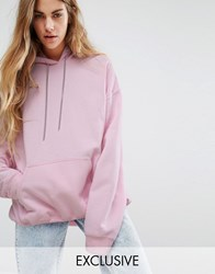 Reclaimed Vintage Oversized Hoodie With Chain Detail Pink