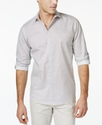 Inc International Concepts Justin Net Pattern Long Sleeve Shirt Only At Macy's