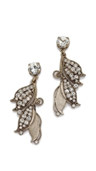 Lulu Frost Vine Earrings Clear