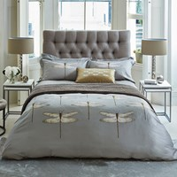 Harlequin Demoiselle Graphite Duvet Cover Grey