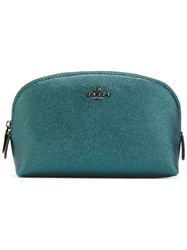 Coach Cosmetic Case Women Leather One Size Green