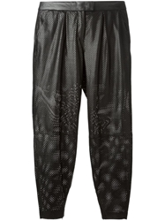 Muubaa Perforated Tapered Trousers Black