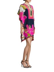 Trina Turk Placed Lehua Print Silk Tunic Multicolor