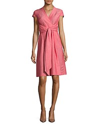 Hobbs Florence Wrap Dress Red Ivory