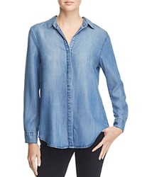 Aqua Collin Long Sleeve Chambray Shirt Blue