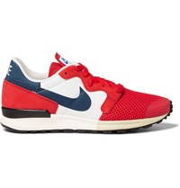 Nike Air Berwuda Mesh And Suede Sneakers Red