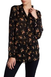 Abound Long Sleeve Floral Shirt Black Clsr Dtsy
