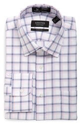 Nordstrom Men's Big And Tall Men's Shop Smartcare Tm Classic Fit Plaid Dress Shirt Pink Lavender