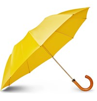 London Undercover Maple Wood Handle Umbrella Yellow