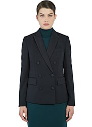 Stella Mccartney Karen Double Breasted Tuxedo Jacket Black
