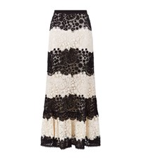 Red Valentino Crochet Lace Maxi Skirt Female Black