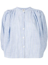 Bellerose Striped Fitted Blouse Blue
