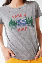 Truly Madly Deeply Take A Hike Tee Grey