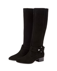 Aquatalia By Marvin K Fable Suede Knee Boots Black