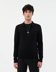 Cmmn Swdn Curtis Zip Sweater In Black