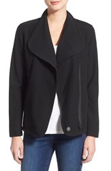 Women's Caslon Knit Asymmetrical Jacket Black