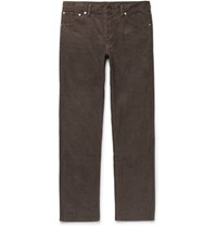 Visvim Fluxus Cotton Blend Corduroy Trousers Brown