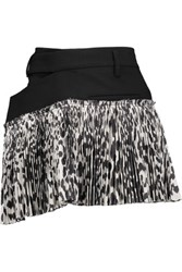 Haider Ackermann Wrap Effect Wool Blend And Silk Blend Jacquard Mini Skirt Black
