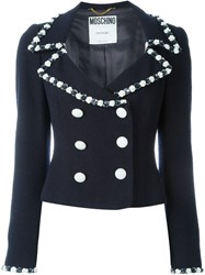 Moschino Vintage Double Breasted Blazer Blue