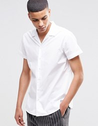 Selected Homme Short Sleeve Revere Collar Shirt White