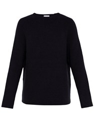 Raey Crew Neck Merino Wool Sweater Navy