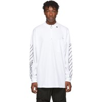 Off White And Black Abstract Arrows Long Sleeve T Shirt
