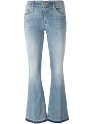Mother Stonewashed Flared Jeans Blue