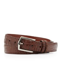 W.Kleinberg Hornback Alligator Belt Brown