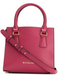 L'autre Chose Small Logo Tote Pink And Purple