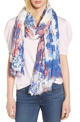Treasure And Bond Print Crinkle Wrap Ivory Floral Collage