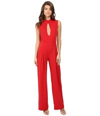 Rachel Antonoff Stacy Plunge Jumpsuit Poppy Women's Jumpsuit And Rompers One Piece Red