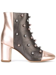 Polly Plume Studded Ankle Boots Women Calf Leather Leather 39 Grey