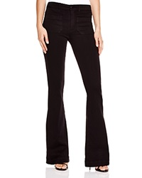 Hudson High Rise Taylor Flare Jeans In Black Bloomingdale's Exclusive