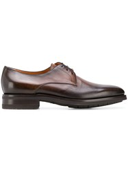Santoni Faded Derby Shoes Brown