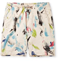 Orslow Printed Denim Shorts Multi