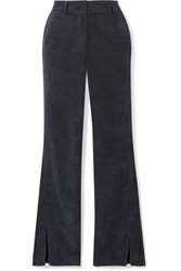 Anine Bing Jocelyn Corduroy Flared Pants Navy