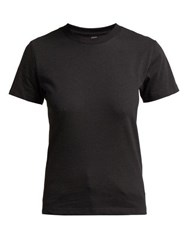 Hanes X Karla The Crew Cotton Jersey T Shirt Black