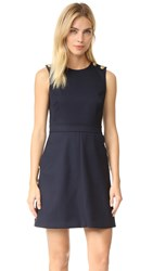 Red Valentino Scalloped Mini Dress Blue