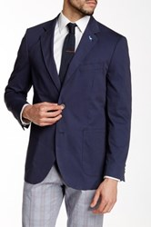 Tailorbyrd Dark Blue Two Button Notch Lapel Jacket