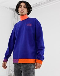 The North Face 92 Rage Fleece Crew Neck In Aztec Blue