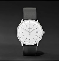 Junghans Max Bill Automatic 40Mm Stainless Steel And Leather Watch Ref. No. 27470000 White