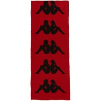Faith Connexion Red And Black Kappa Edition Logo Scarf